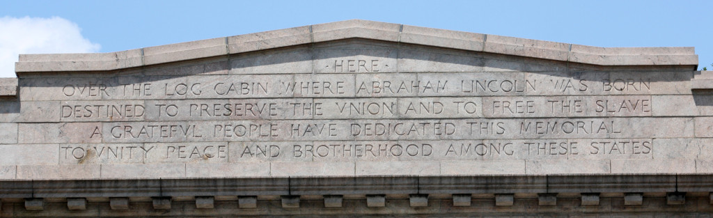 Close-up of inscription on memorial