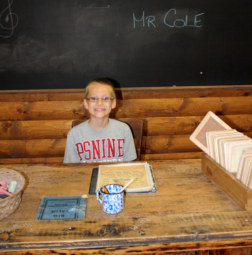 CT as a teacher in a one-room schoolhouse