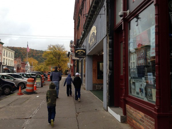walking to the HoF down through the very cool streets of Cooperstown.